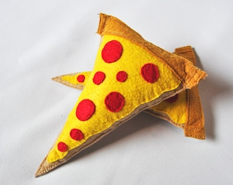 Handmade Organic Catnip Stuffed Pizza Cat Toy