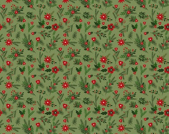 Christmas Delivery Floral Green C7332-Green by Carta Bella