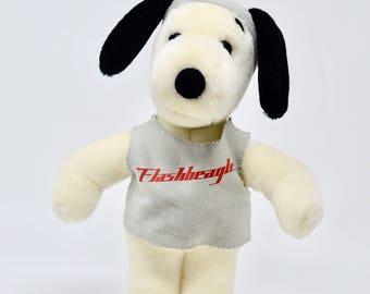 Vintage 1980's Snoopy Flashbeagle Plush Stuffed Animal