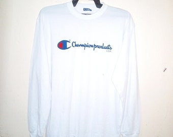 FREE SHIPPING vintage 90's champion tees long sleeve medium size