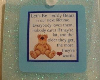 bear, teddy bear, bear keychain, teddy bear keychain, blue keychain, cute keychain, cute blue keychain, cute bear keychain,perfectresin(143)