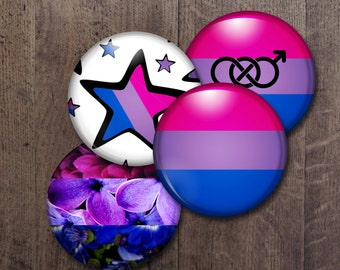 Bisexual Pride Buttons
