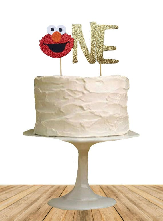Elmo One Cake Topper One Cake Topper First Birthday Cake