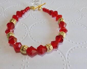 "ID# 286 GOLDEN DIGS 7.5"" bracelet"