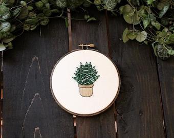 Snake Plant - PDF DIY Hoop Art Pattern, Botanical Hand Embroidery, Succulent Needlepoint Design, Gift for Friend, Boho Decor, Plant Art