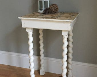 Handmade Barley Twist Side Table / End Table / Plant Stand  (delivery quote available on request)