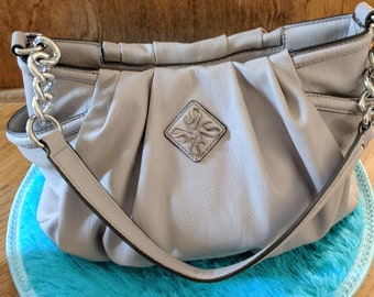 Simply Vera Vera Wang Chain Link Pleated Hobo Purse