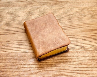 Full Grain Cowhide Leather Bible, NKJV Large Print Compact
