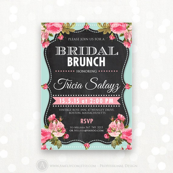 Printable Bridal Shower Invitation Bridal Brunch Bridal Tea