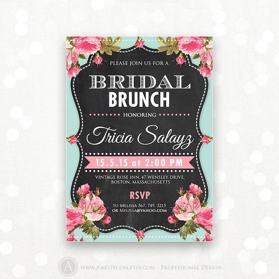 Printable bridal shower invitation bridal brunch bridal tea filmwisefo