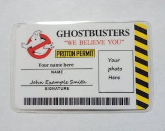 Ghostbuster's Custom Novelty ID Card
