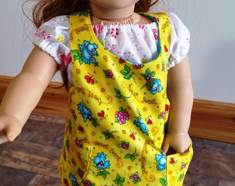 Reversible Apron made for the American Girl doll and similar 18 inch dolls