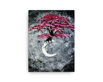 Ethereal Moon Acrylic Print on Canvas