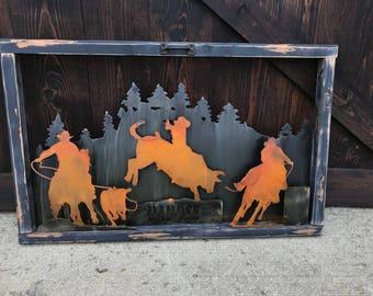 Barrel racing,  Rustic Sign, Mountain decor, Horse Decor, Bull riding, Farmhouse Decor, Rodeo sign, Rustic Home Decor, Calf roping, Cowboy