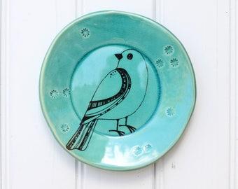bird dish // tapas plate // jewelry storage // dessert plate  // bird