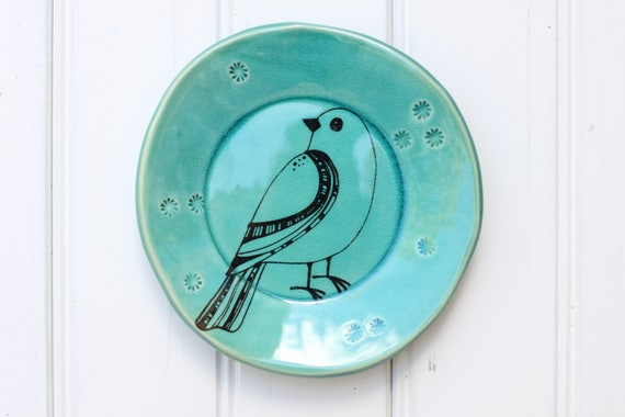 bird dish // tapas plate // jewelry storage // dessert plate  // bird