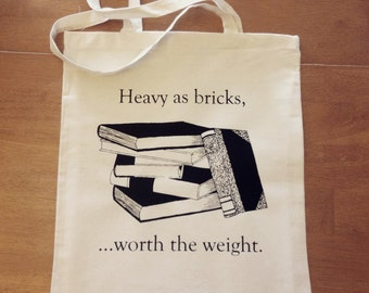 "Tote - ""Heavy as Bricks"" Book Bag"