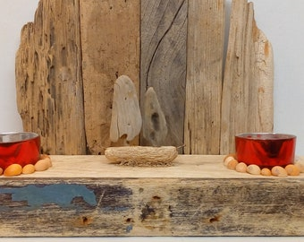 Unique Handmade Decorative Driftwood Tea Light Holder Nautical
