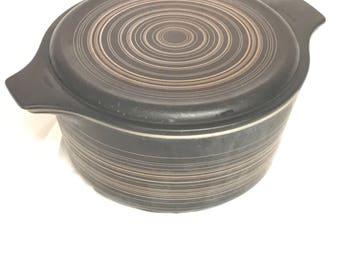 Vintage 1960s Pyrex Terra #472 Casserole Dish w/ Lid 1.5 Pint