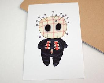 Mini Pinhead - 4x6 Print [ Hellraiser / Fan Art / Chibi ]