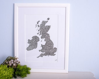 Golfing map of the UK