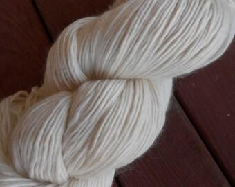 Merino/Silk DK Worsted Weight Single-Ply Yarn Undyed Natural Ecru
