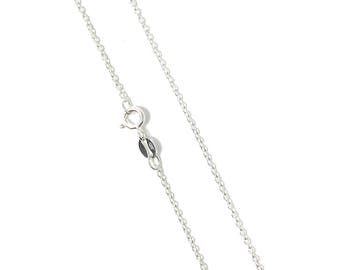 Sterling Silver Cable Chain 925 Sterling Silver Chain Necklace Finished with Spring Ring Clasp 925 Italy Stamped