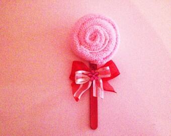 Microfiber cloth lollipop shape 30 x 30 bow