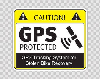 Decals Stickers Gps Protected Bike Bicycle Weatherproof Cycling bicycling biking 14117