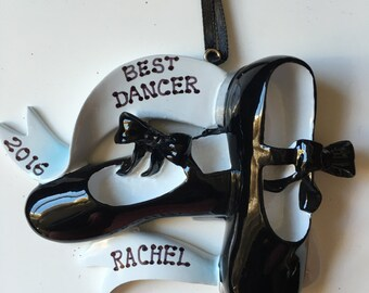 Personalized Tap Shoes Christmas Ornament- Best Dancer,Recital , Dancer , Party Favor, Teacher Gift