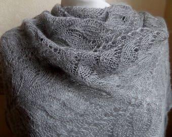 Lace shawl Hand knitted shawl Luxurious softness  baby alpaca/silk