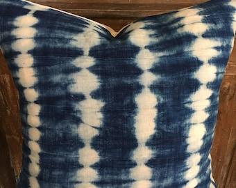 Stunning Indigo Shibori Euro Pillow Cover