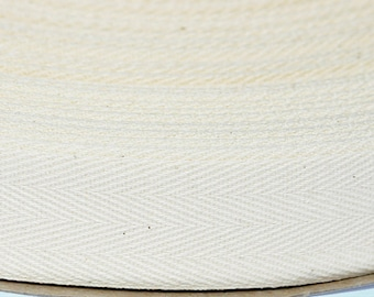 100 yards of natural cotton ribbon 1 inch wide TWILL TAPE- 100% Cotton Twill Tape - Earth Friendly Ribbon-