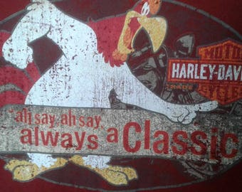 Harley Davidson does it again. This is a Med Short Sleeve men's T-shirt with Bugs Bunny and all his friends. Truely fabulous!