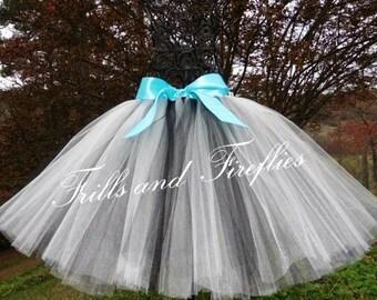 White & Black Tutu/Tulle Skirt/Skirt/Dance/Halloween/Costume/Festival Clothing/Birthday Gift/Ballet Skirt/Tulle Skirt Women/Bridal Skirt
