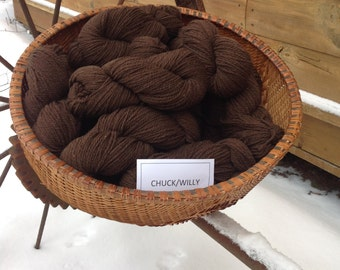 Chuck and Willy's lambs wool worsted weight Cormo x yarn
