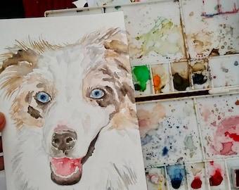 Personalised Pet Portraits [watercolour]