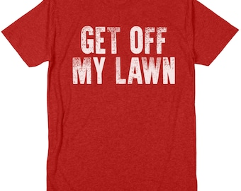 Get off my lawn Clint Eastwood Gran Torino old school vintage throwback pop paw paw great grandpa crew neck tri blend soft style tee t shirt