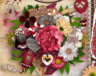 Digital Scrapbooking, Elements, Romanctic: Always Yours