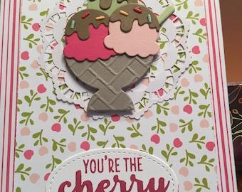 Handmade Ice Cream Sundae card