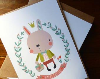 """Lot de 2 cartes postales """"Chasse aux oeufs"""""""