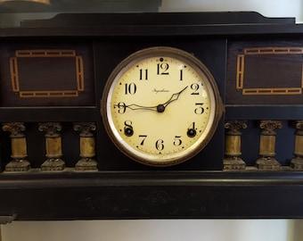 Dark-wood Antique Clock