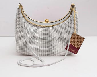 Glomesh, 1970/80's White Purse with Clutch