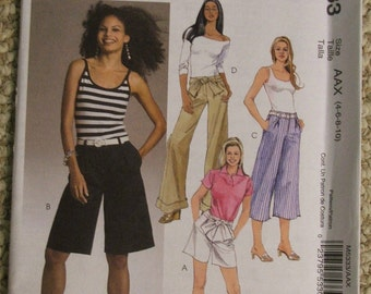 McCall's M5333 Misses'/Miss Petite Shorts and Pants in Two Lengths Pattern Size 4-6-8-10