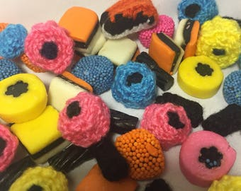 Knitted Allsorts liquorice candies