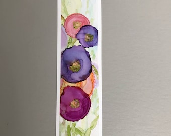 Bookmark Handpainted Alcohol Ink