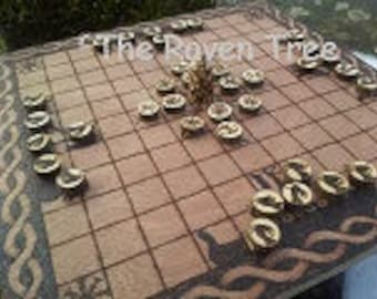 Hnefatafl Game Board & Pieces - Special Viking - Traditional Game