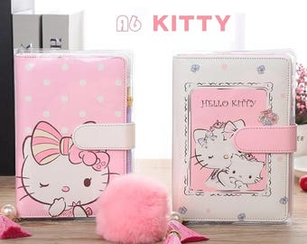 Hello Kitty A6 Personal Size Planner Faux Leather Filofax Style Agenda Organizer Diary 6 Ring