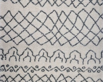 Shaggy Ivory Grey Vancouver Area Rug