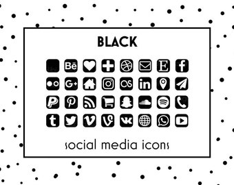 Social media icons gold foil icons gold buttons website social media icons black icons black button social icons website icons reheart Gallery